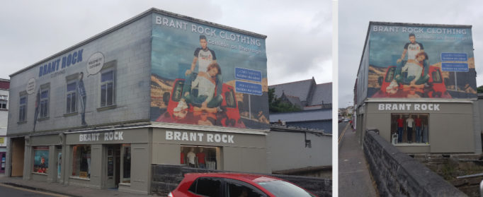 Brant Rock clothing shop Mesh Banner installed to the side of the shop