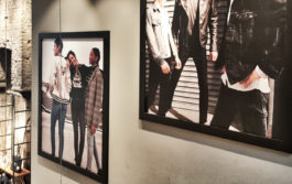 Wall image installed at levis store